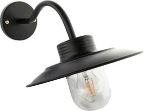 Industriële Wandlamp Metaal En Glas Voor Buiten, Zwart