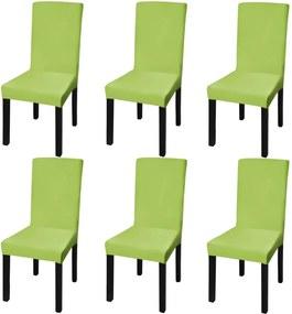 Stoelhoes stretch recht 6 stuks groen