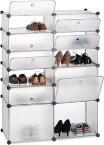 Schoenenrek kunststof XXL - 12 vakken - schoenenkast - DIY vakkenkast - groot doorzichtig