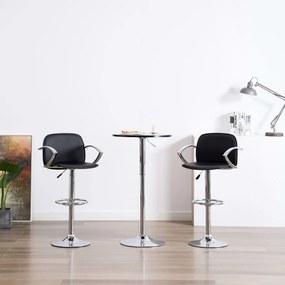 Barstoelen met armleuningen 2 st kunstleer zwart
