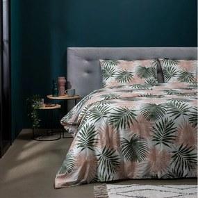 Presence Pretty Palm - Roze 1-persoons (140 x 220 cm + 1 kussensloop) Dekbedovertrek