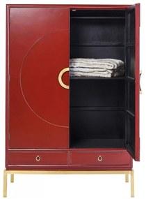 Kare Design Disk Bordeauxrode Kledingkast - 120x55x180cm.