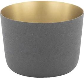 Waxinelichthouder Ø9.5x7 - Metaal Zwart (zwart)