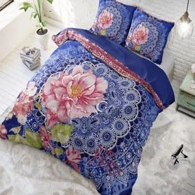 DreamHouse Bedding Ash - Blue/ Pink 1-persoons (140 x 220 cm + 1 kussensloop) Dekbedovertrek