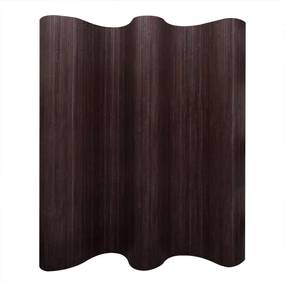 Kamerscherm donkerbruin bamboe 250x165 cm