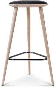 Fameg Finn - Houten barkruk - 75 cm hoog- Hout - Drie poten - Driehoekig - Met kussen - 75 cm hoog - Design