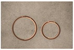 Bedieningsplaat Geberit Sigma 21 voor 2-toets Spoeling Rosé Goud / Betonlook