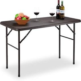 Tuintafel inklapbaar - klaptafel - eettafel - houtlook - terrastafel bruin