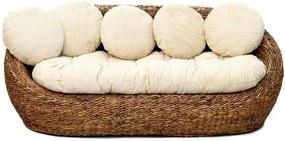 Bazar Bizar | Zitbank The Banana Leaf lengte 206 cm x breedte 80 cm x hoogte 112 cm naturel, wit zitbanken bananenblad meubels | NADUVI outlet