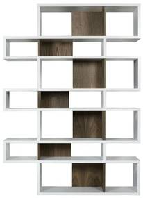 TemaHome London Hoge Design Boekenkast Wit-walnoot - 156x34x220cm.
