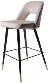 4uDesigned | Barkruk Lizz hoogte 99 cm x breedte 47 cm x diepte 51 cmzithoogte zwart barkrukken velvet poefs & krukken meubels | NADUVI outlet