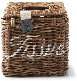 Rivièra Maison - Rustic Rattan Tissue Square Box - Kleur: bruin