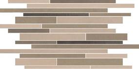 Pure Line tegelmat vrij 30 x 50 cm.doos a 4 stuks multicolor mat bruin
