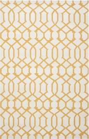 Safavieh | Handgeweven vloerkleed Margo Dhurrie 150 x 240 cm ivoor, geel vloerkleden wol vloerkleden & woontextiel vloerkleden | NADUVI outlet