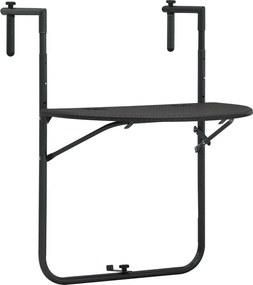 Balkontafel hangend 60x64x83,5 cm rattan-look kunststof bruin