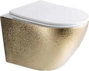 Best Design Royal Gold Rimfree wandcloset incl. softclose zitting glans wit 4010140