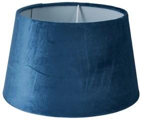 Lampenkap velvet - blauw - 23x23x14 cm