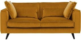 Goossens Bank Suite geel, stof, 2-zits, elegant chic