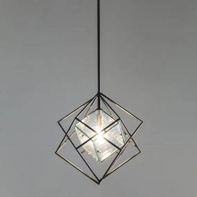 Kare Design Ice Cube Kleine Zwarte Hanglamp