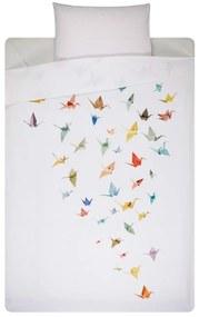 Snurk Crane birds katoen perkal dekbedovertrekset 160TC - inclusief kussenslopen
