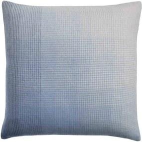 Kussen blauw, alpaca wol: Horizon, vierkant Zonder binnenkussen