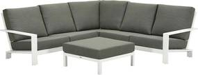 Garden Impressions Coba loungeset 4-delig - wit / moss groen