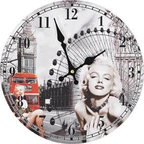 Wandklok vintage-stijl Marilyn Monroe 30 cm