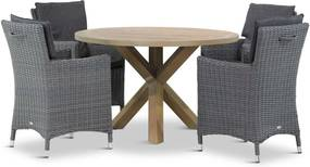 Garden Collections Springfield/Sand City rond 120 cm dining tuinset 5-delig