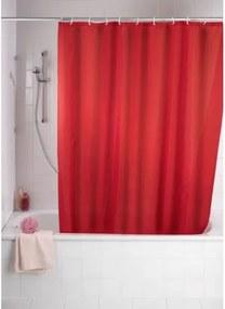 Douchegordijn Wenko Polyester Rood 180x200cm met Anti-Schimmel Behandeling