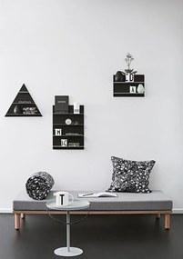 Design Letters | Wandplank A3 a3: lengte 42 cm x diepte 10 cm x hoogte 29 cm zwart wandplanken & -haken mdf, staal opbergen | NADUVI outlet