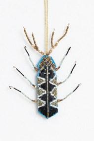 Geborduurde kersthanger insect