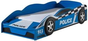 Vipack autobed Politie - blauw - 60x77x147,8 cm - Leen Bakker
