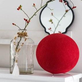 Staande Cottonball - Red - dia 25cm
