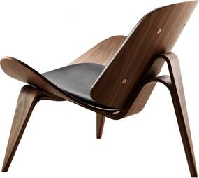 Carl Hansen & Son CH07 Shell fauteuil geolied walnoot Thor 301 leer