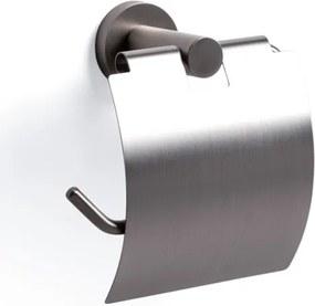 Ozean toiletrolhouder met klep rond RVS