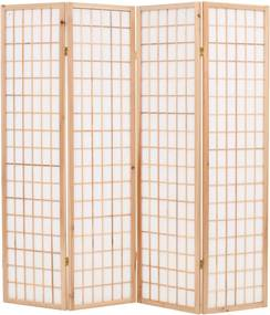Kamerscherm inklapbaar Japanse stijl 160x170 cm naturel