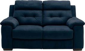 Goossens Excellent Bank Wout Met Relaxfunctie blauw, stof, 2,5-zits, urban industrieel
