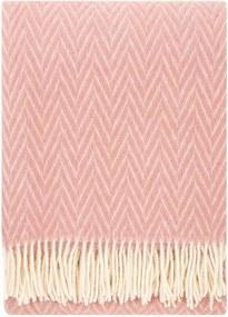 Plaid wol: roze visgraat