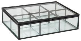 Theedoos - 20x15x5 cm - zwart