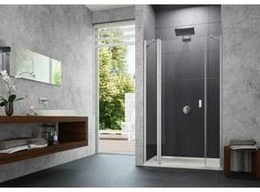 Huppe Design pure nis draaideur 140x190cm met segment en zijdeel matzilver antiplaque glas 8p7304087322