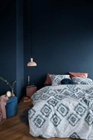 At Home by Beddinghouse | Dekbedovertrekset Heavy Navy lits-jumeaux: breedte 240 cm x lengte 200/220 cm + marineblauw dekbedovertrekk | NADUVI outlet
