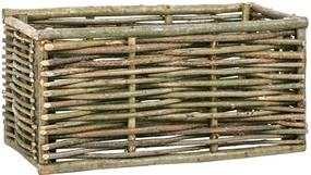 Plantenbak verhoogd 80x40x40 cm hazelaarhout