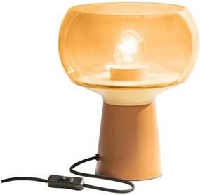 BePure Tafellamp Mushroom Syrup - Glas - Metaal - BePure - Industrieel & robuust