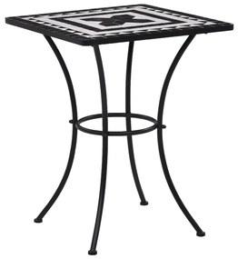 Bistrotafel mozaïek 60 cm keramiek zwart en wit