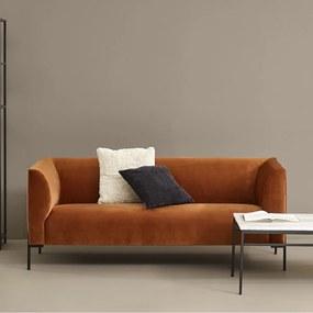 Fluwelen Designbank 2,5-zits Oranje