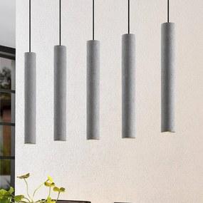 Concretto hanglamp met 5 betonnen kappen - lampen-24