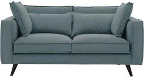 Goossens Bank Suite blauw, stof, 2-zits, elegant chic