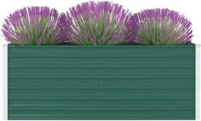 Plantenbak verhoogd 160x80x45 cm gegalvaniseerd staal groen