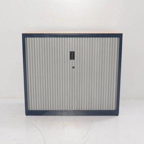 Roldeurkast, blauw, 105 x 120 x 47 cm, incl. 2 legborden
