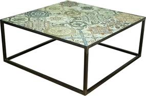 Spinder Design Ibiza Authentieke Salontafel 80x80 - 80 X 80cm.